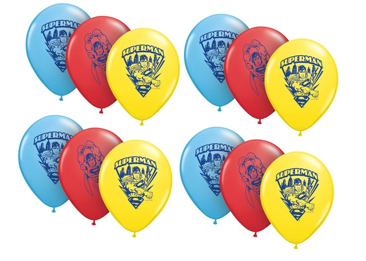 FAST SHIP 12 Superman Birthday Balloons, Superman Party Balloons, Superman Latex Balloon, Super Heroes Birthday Party Supplies by PartysuppliesDesign on Etsy https://www.etsy.com/listing/477873781/fast-ship-12-superman-birthday-balloons