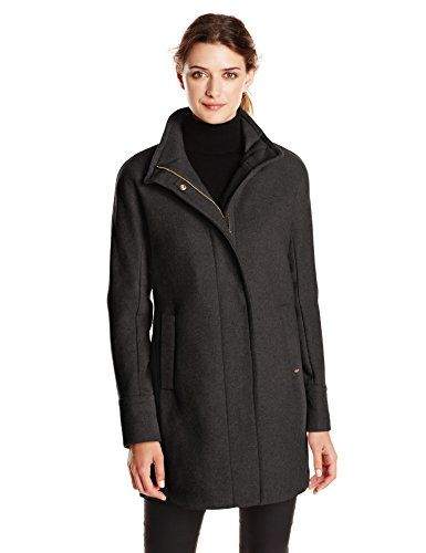 Ellen Tracy Outerwear Women's Wool-Blend Coat with Funnel Neck - http://darrenblogs.com/2015/11/ellen-tracy-outerwear-womens-wool-blend-coat-with-funnel-neck/