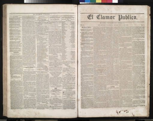 El Clamor Publico, vol. II, no. 5, Julio 19 de 1856 :: El Clamor Publico Collection, 1855-1859