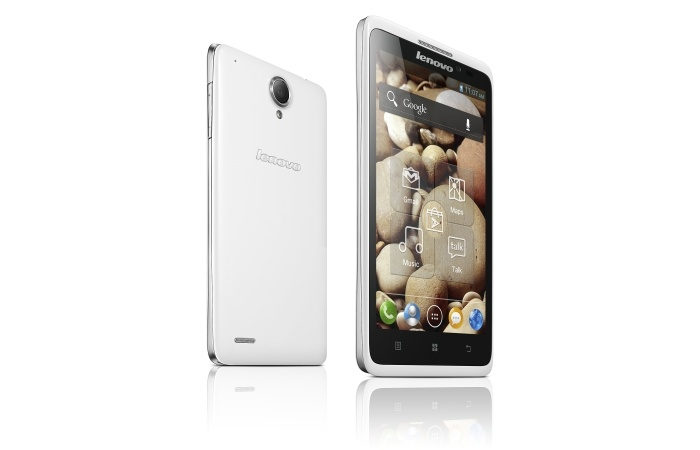 Lenovo S890    - 5-inch smartphone with qHD (540 x 960 resolution) screen.     - 9.3mm thick and weights 176 grams.    - 8-megapixel auto-flash camera on-board     - Runs on Android 4.2 (Jelly Bean).     - 2,250mAh battery.