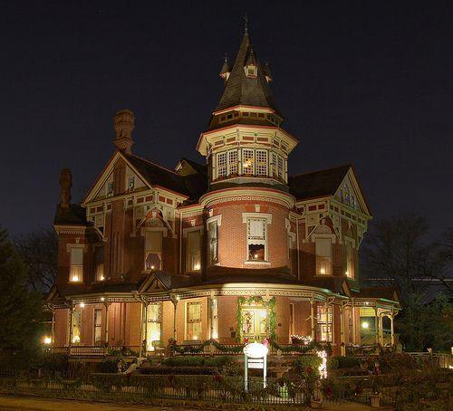 Built in 1888. The Empress Of Little Rock lit up for the Holidays. Quapaw Quarter,Little Rock, Arkansas