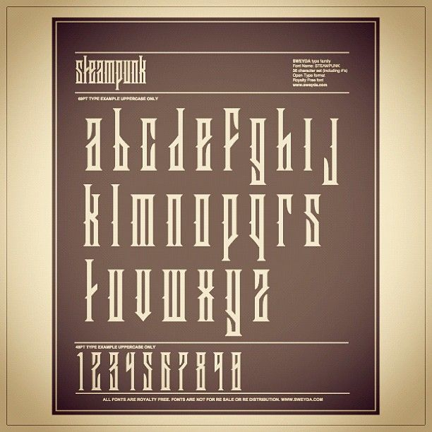 STEAMPUNK font up in the shop. #typography #type #font #lettering #steampunk (Taken with instagram)