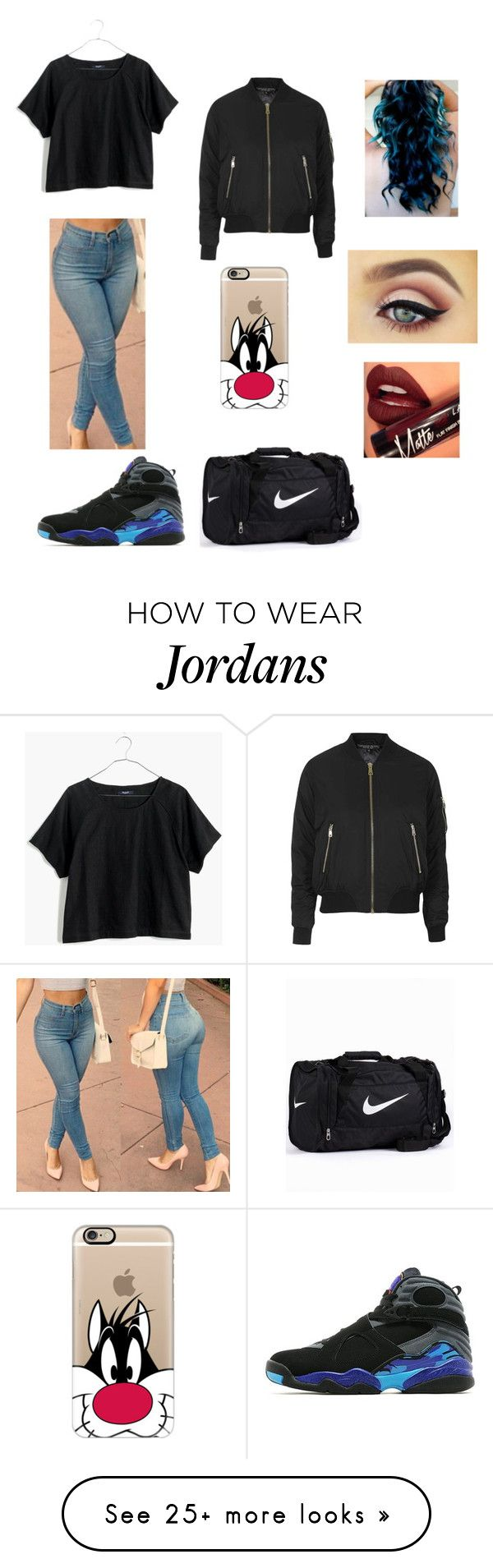 """After dance"" by junebug02 on Polyvore featuring Topshop, Jordan Brand, Casetify, NIKE, Madewell, Fiebiger, women's clothing, women's fashion, women and female"