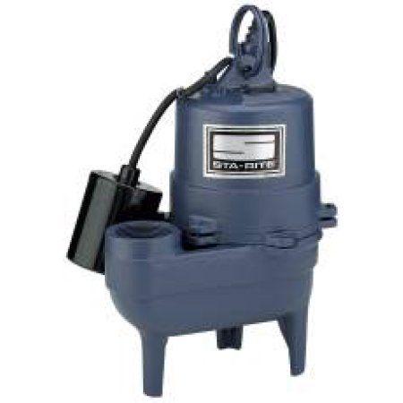 Sewage Ejector Pump 1/2 Hp, Multicolor