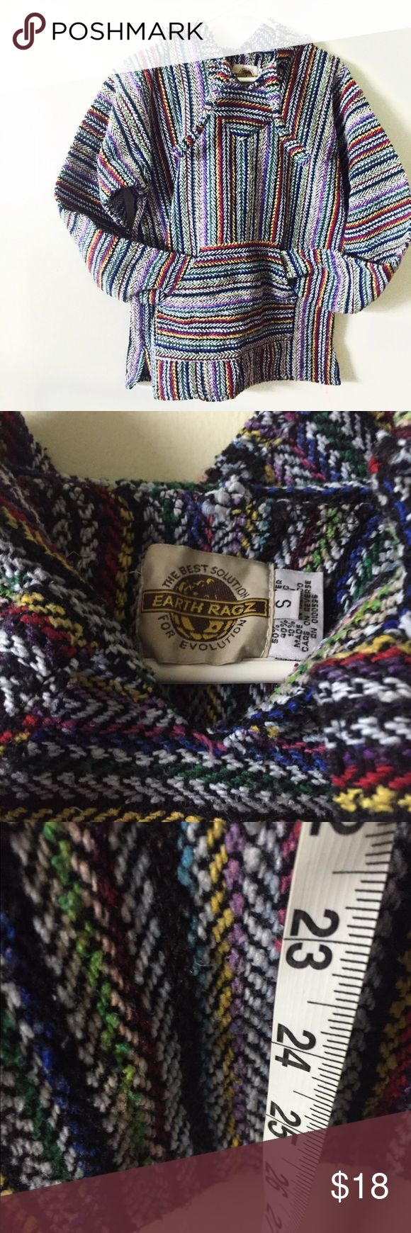 "Earth ragz small authentic Mexican Baja sweater Great condition 23"" chest measurments Vintage Sweaters"