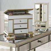 Champagne Mirrored Jewelry Box