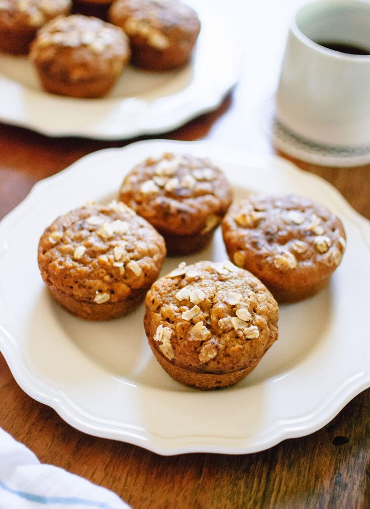 Easy, healthy pumpkin muffins made with whole grains, natural sweetener (maple syrup) and real pumpkin! These muffins are fluffy and delicious.