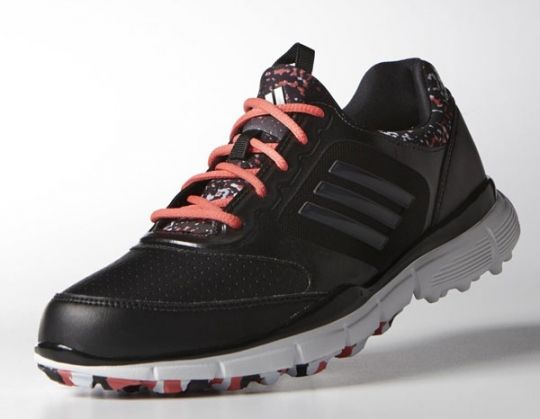 Core Black/Dgh Solid Grey/Sunset Coral-Tmag Adidas Ladies Adistar Sport Golf Shoes! Find the best ladies shoes that match your casual outfits at #lorisgolfshoppe