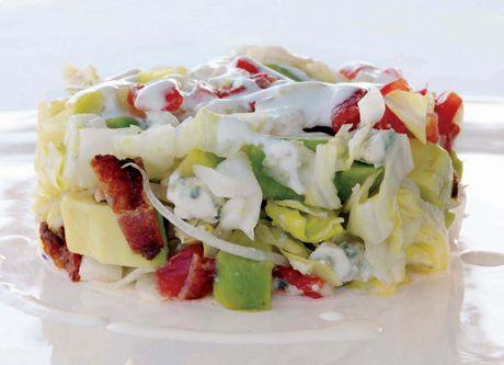 Patricia Wells's Cobb Salad: Iceberg, Tomato, Avocado, Bacon, and Blue Cheese