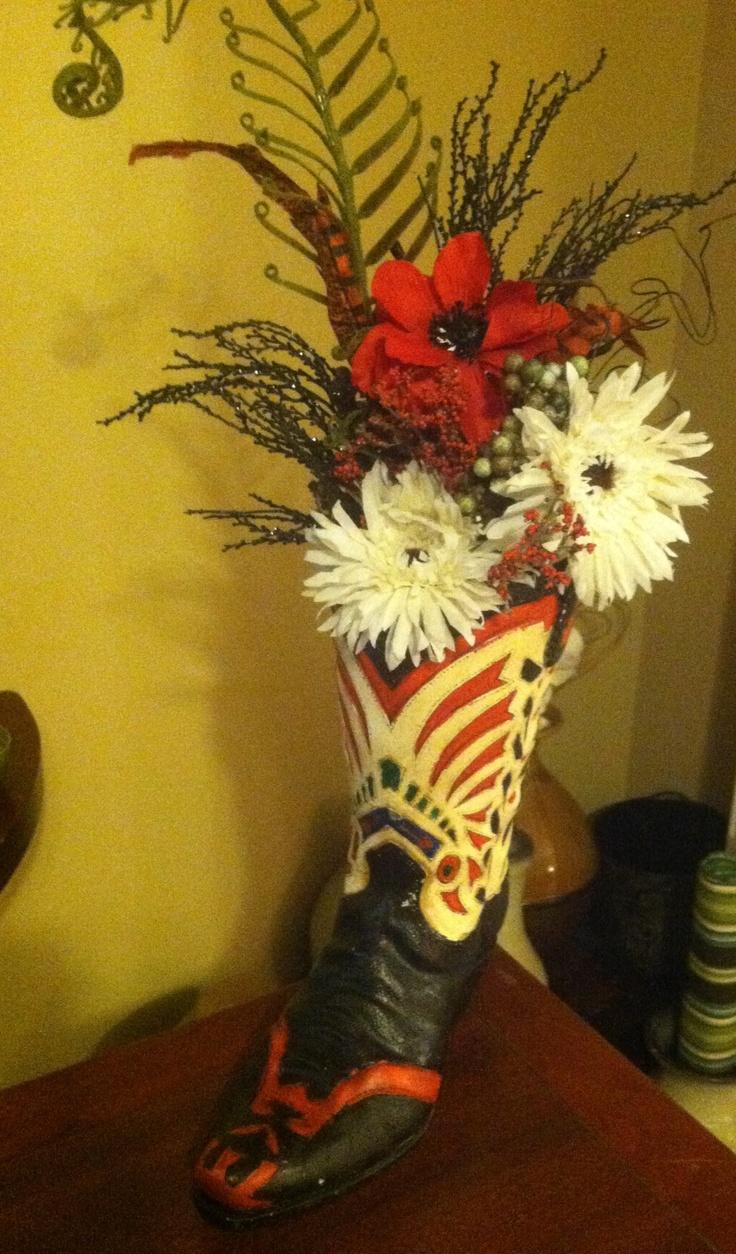 305 best silk flower arrangements images on pinterest flower cowgirl boot silk flower arrangement dhlflorist Image collections