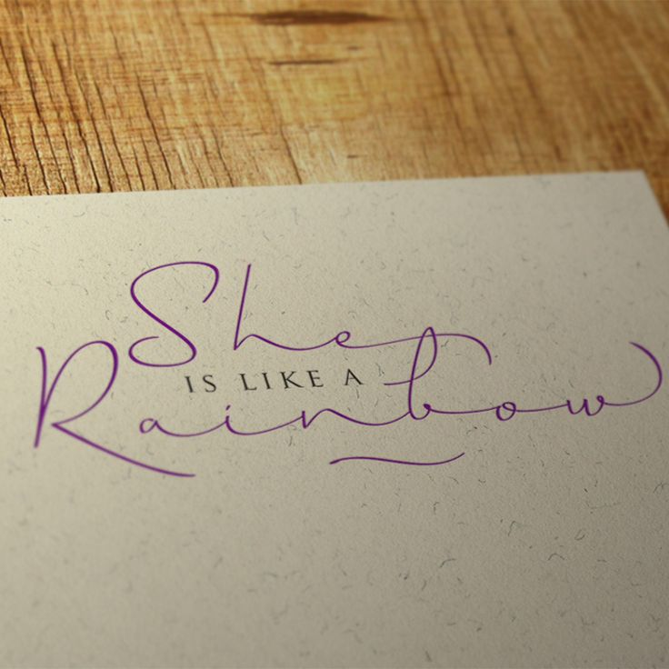 """""""She is like a Rainbow"""". Horizontes Script by Panco Sassano and Ale Paul. www.sudtipos.com"""
