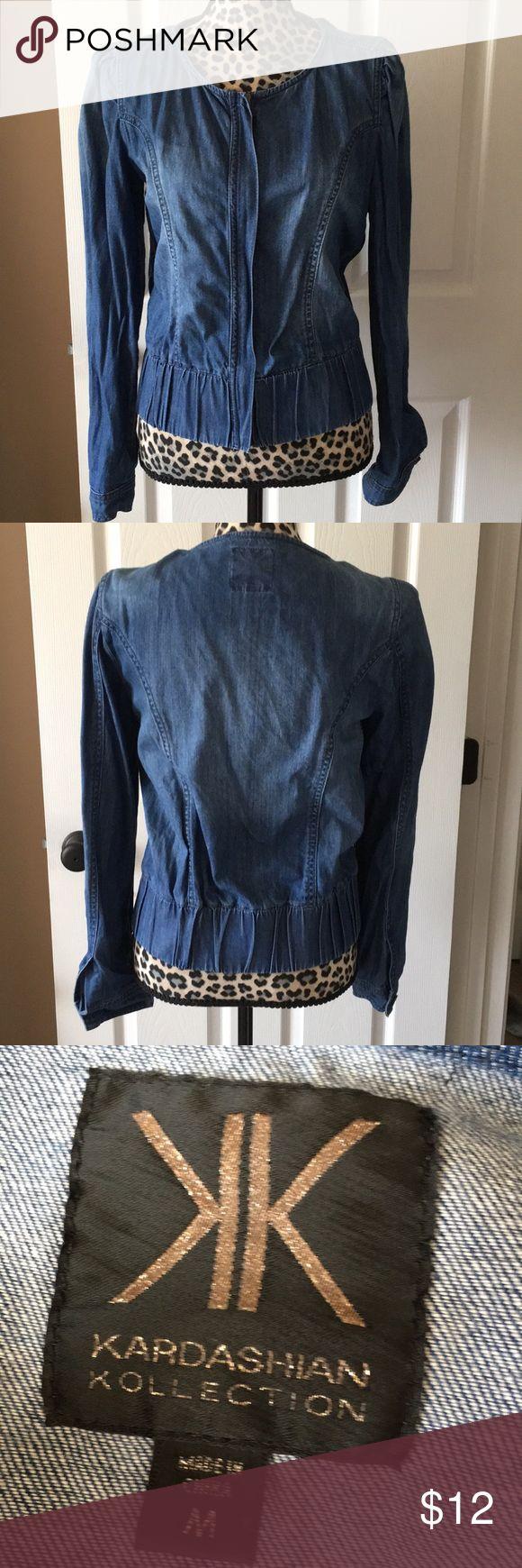 Kardashian Kollection Denim Zip Up Jacket Size M Womens Kardashian Kollection Denim Zip Up Jacket Size Medium. Excellent Condtion, no flaws. Kardashian Kollection Jackets & Coats