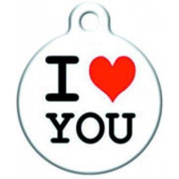 Placa Diseño I LOVE YOU  / Nombre - Telf.