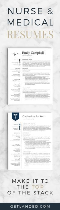 The 25+ best Nursing resume template ideas on Pinterest Nursing - free medical resume templates