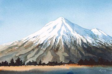 Mt Taranaki, painting by Daniel Reeve