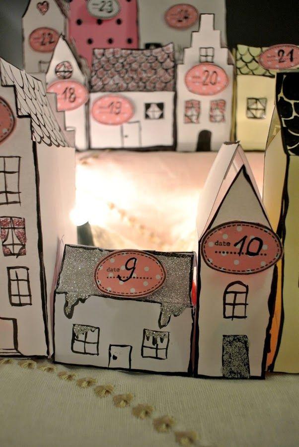 Mon calendrier de l'Avent 2013 * Les petites maisons de papier* DIY
