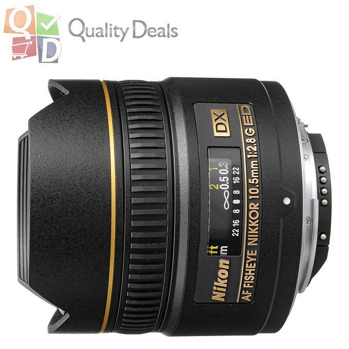 NEW Nikon AF DX Fisheye NIKKOR 10.5mm f/2.8G ED Lens