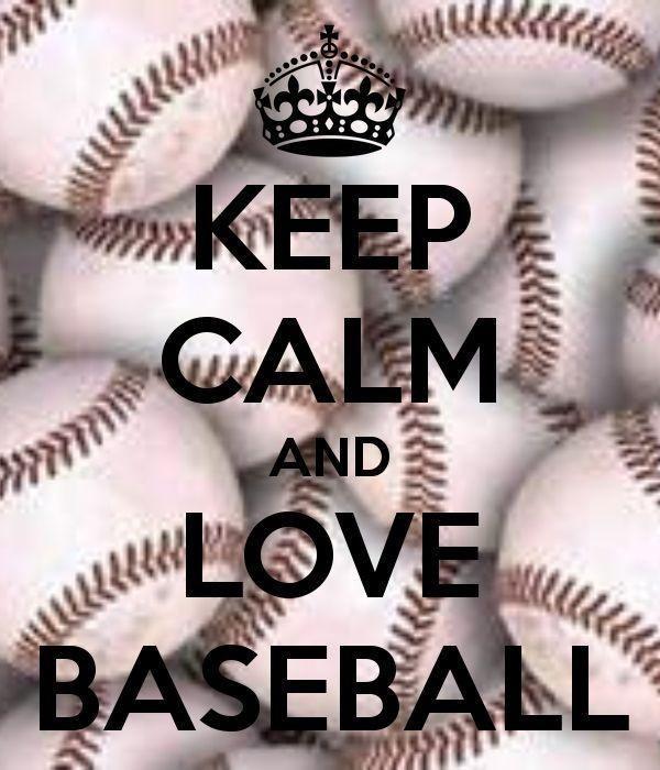 Keep calm and love baseball Picture Quote #1