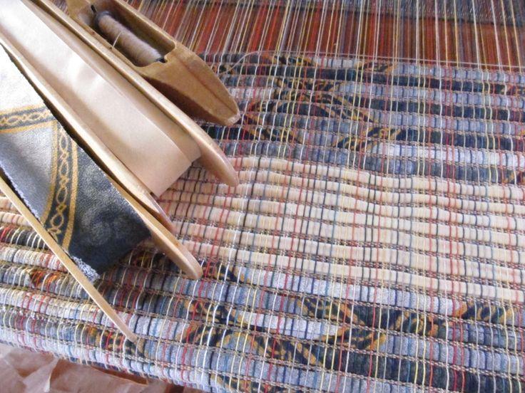 A woven Carpet in progress by LesFousDArt.