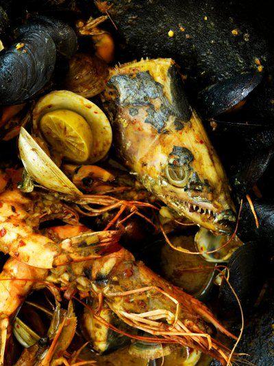 Fish, clams, shrimp. Photo by Rob Fiocca