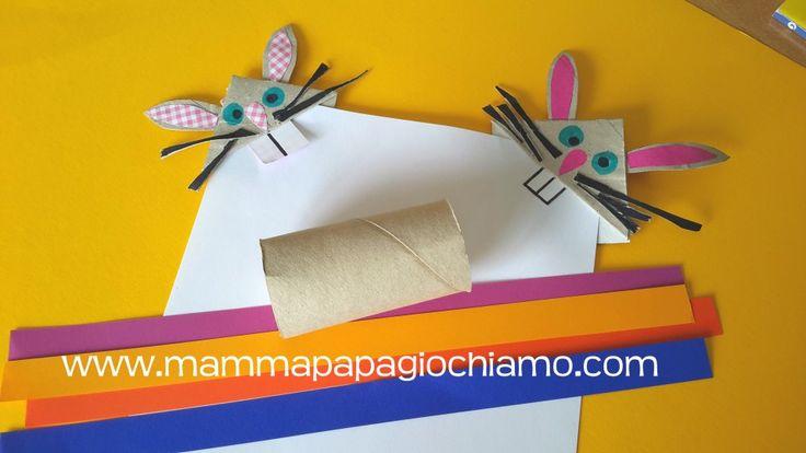 Coniglietto segnalibro nato da un rotolo di carta igienica