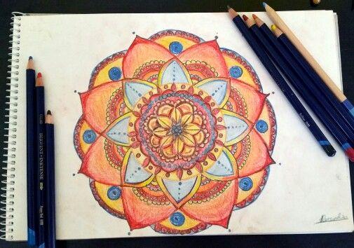 #Drawing by @Alexandrammh  #mandala#colors