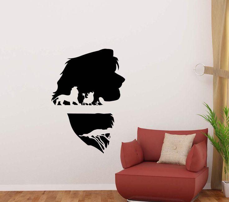 Lion King Wall Decal Simba Timon Pumbaa Movie Disney Cartoon Vinyl Sticker Home Room Bedroom Decor Nursery Poster Art Mural Custom Print 90 by JuliaDecals on Etsy https://www.etsy.com/listing/503239806/lion-king-wall-decal-simba-timon-pumbaa