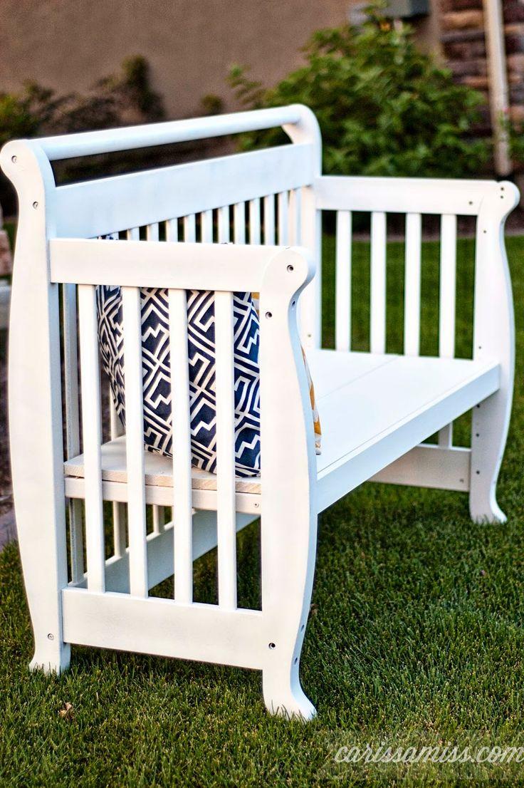 Carissa Miss: Crib to Bench Transformation