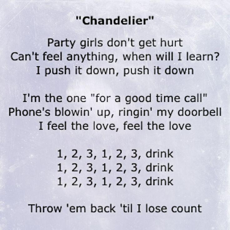 1,2,3, 1,2,3  Drink ~ Chandelier | Sia