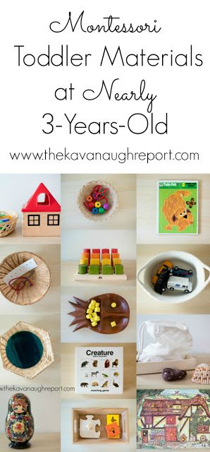 Montessori toddler materials at nearly 3-years-old. A look at toddler activities in a Montessori home.