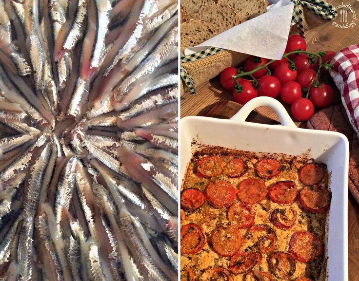 Briciole di Sapori: Tortino di alici, pomodorini e pinoli. Un piatto c...