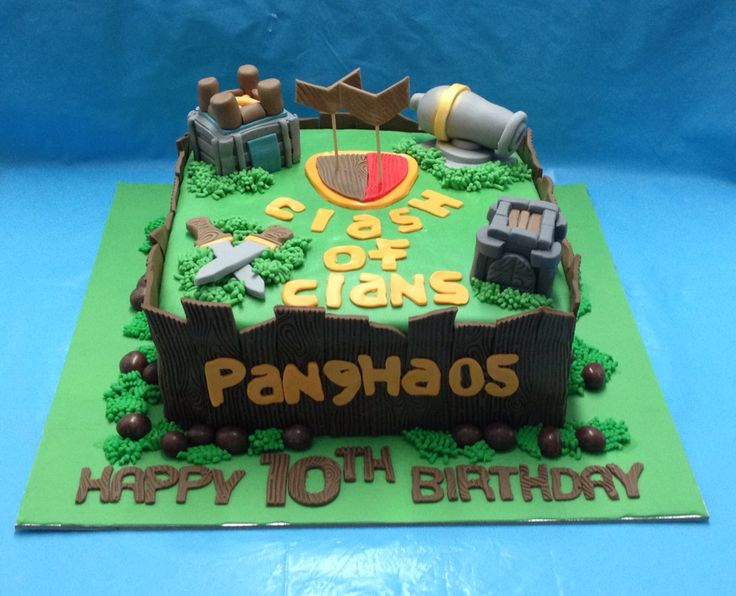 Clash of Clans birthday cake