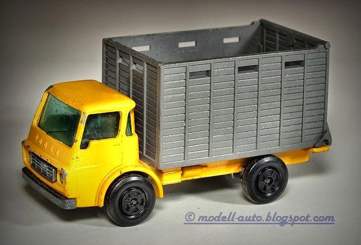 Mein Blog über Modellautos: Lesney Matchbox Cattle Truck Dodge No 37 England 1970 Superfast
