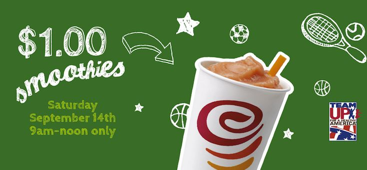 2013/09/14 - #Jamba #Discount one dollar #smoothies