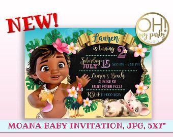 Moana Invitation, Moana birthday invitation, moana baby invitation, moana birthday,moana invitations,moana party invitation,moana,moana baby