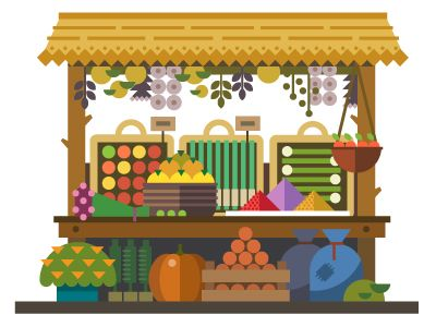 Food Market by TastyVector