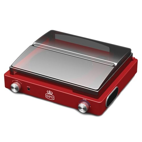 GPO Stylo Vinyl Record Player - Red