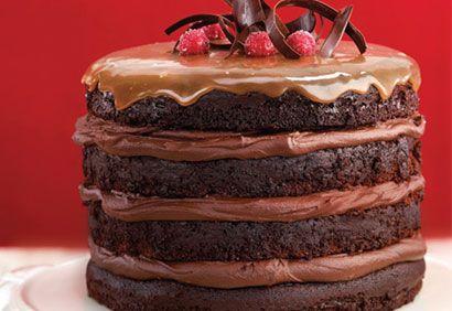 Recette Gâteau étagé au chocolat et au caramel - Coup de Pouce