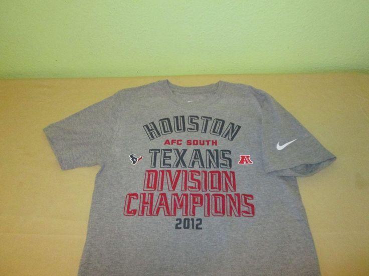 HOUSTON TEXANS NFL T Shirt Sz S Small - Gray - NIKE - 2012 AFC South Champs   Nike  HoustonTexans  b04edbab2
