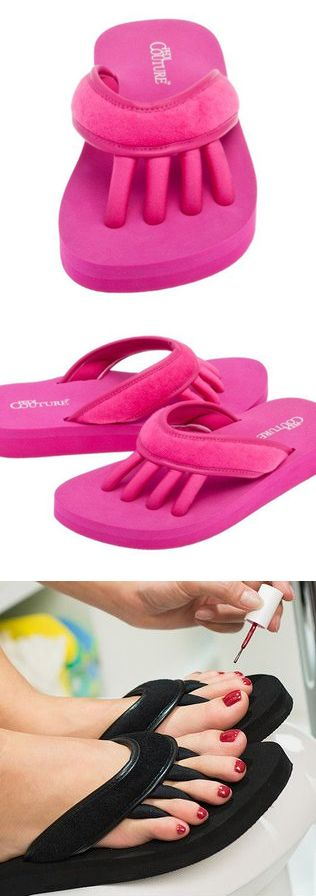 Pedi Flip Flops with toe separators! What a clever & comfy idea! #product_design