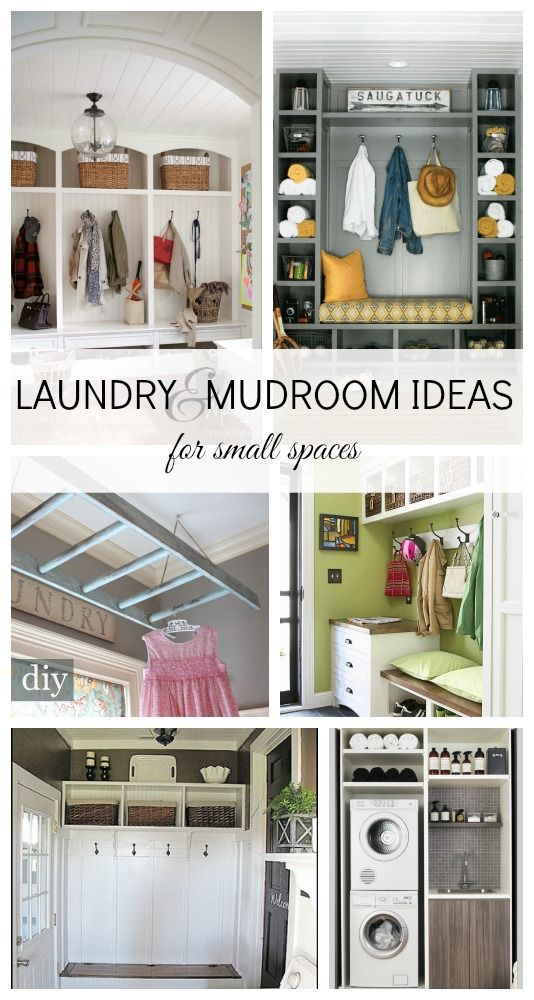 Laundry and Mudroom Ideas love the idea of painting a ladder and using it to dry clothes