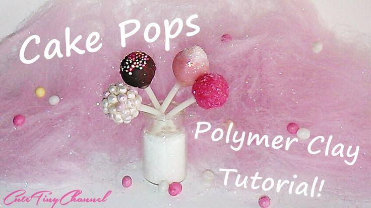 Cake Pops Polymer Clay Tutorial Miniature