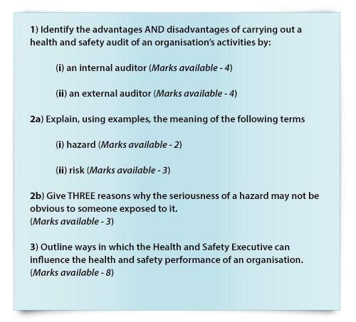 NEBOSH past exam paper questions 4