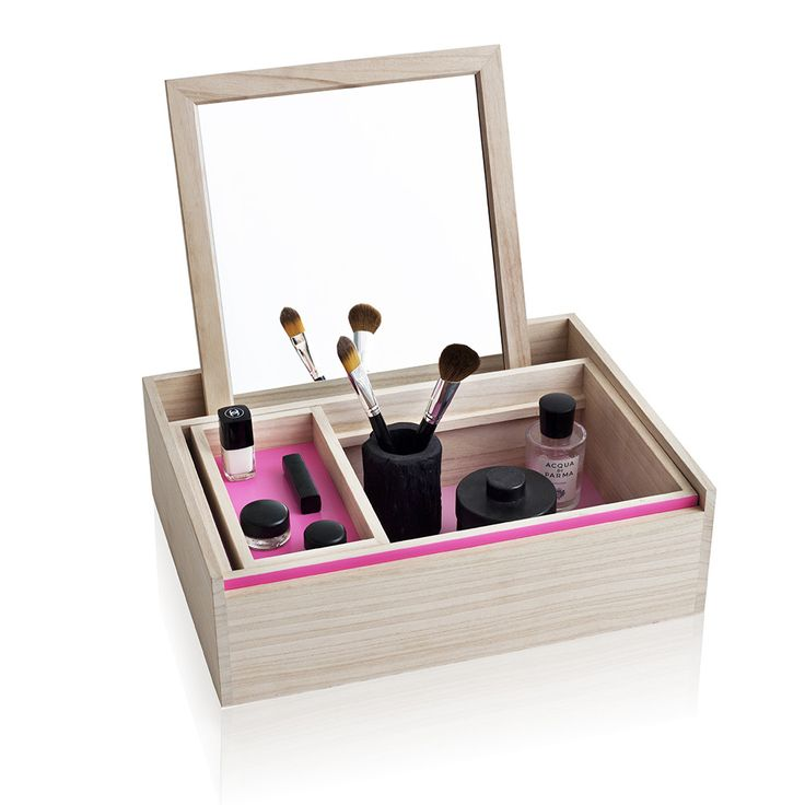 Discover the Nomess Copenhagen Balsabox Personal Storage Box - Large - Pink at…