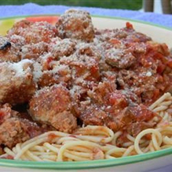 "Family Sicilian Sauce and Meatballs | ""I have always considered myself an excellent saucemaker. However, I made this sauce for my Sicilian husband and he absolutely loved it!"""