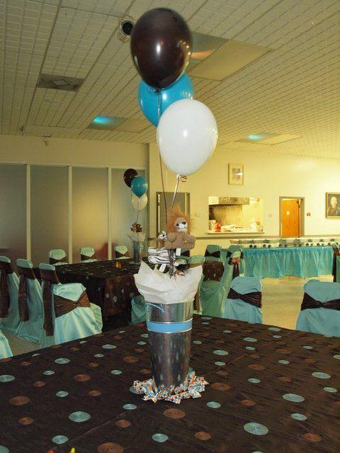 Wild Blue Safari Baby Shower Party Ideas