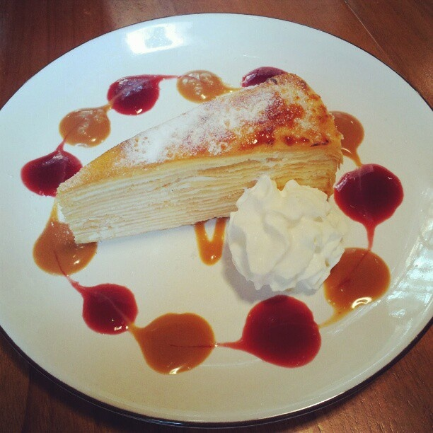 Mille-feuille..my current favourite dessert