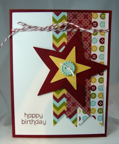 Birthday Star- great idea, looks easy enough to do.
