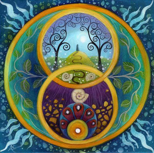 Mandala - Chalice Well by Amanda Clark