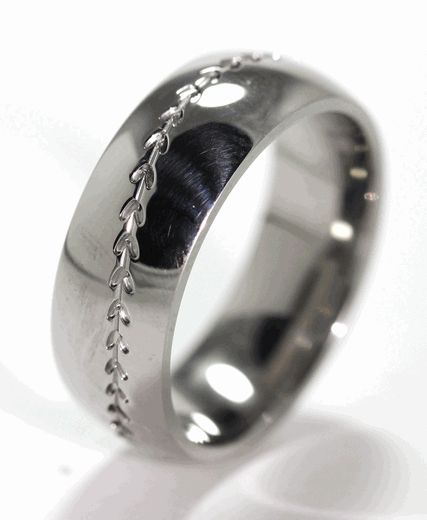 Titanium Baseball Ring For him <3